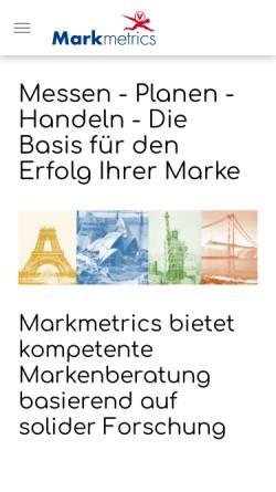 Vorschau der mobilen Webseite www.markmetrics.com, Markmetrics GmbH