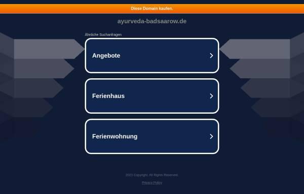 Vorschau von www.ayurveda-badsaarow.de, Andreas Brandt, Praxis für Naturheilkunde
