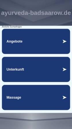 Vorschau der mobilen Webseite www.ayurveda-badsaarow.de, Andreas Brandt, Praxis für Naturheilkunde