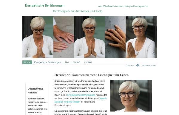 Vorschau von www.der-energieschub.de, Wiebke Nimmer - Beratungen, die berühren