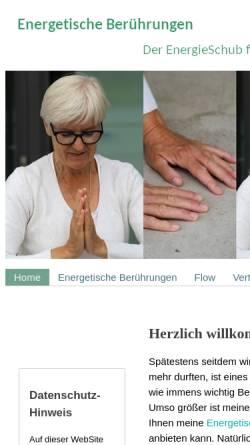 Vorschau der mobilen Webseite www.der-energieschub.de, Wiebke Nimmer - Beratungen, die berühren