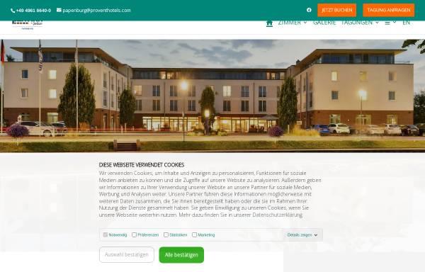 Vorschau von www.pi-papenburg.de, Hotel Park Inn