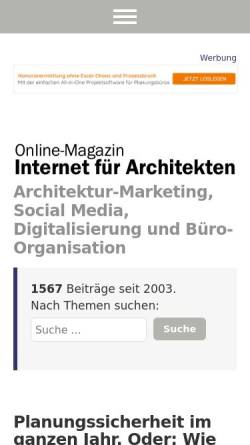 Vorschau der mobilen Webseite www.internet-fuer-architekten.de, Internet für Architekten