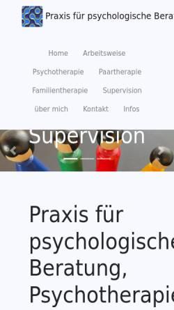 Vorschau der mobilen Webseite www.psychologie-schaerer.ch, Praxis für psychologische Beratung und Psychotherapie