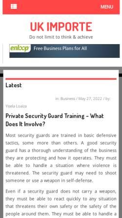 Vorschau der mobilen Webseite www.uk-importe.com, UK-Importe.com