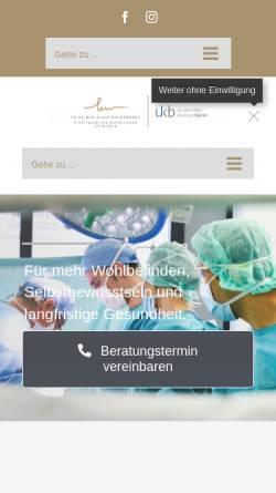 Vorschau der mobilen Webseite www.meinebrust.de, Priv. Doz. Dr. med. Klaus J. Walgenbach