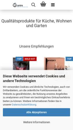 Vorschau der mobilen Webseite www.dekomiro.de, Dekomiro, Gabriela Hoffmann