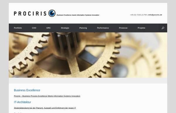 Vorschau von www.prociris.de, Prociris Consulting GmbH