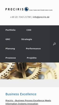 Vorschau der mobilen Webseite www.prociris.de, Prociris Consulting GmbH