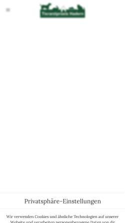 Vorschau der mobilen Webseite www.kleintierpraxis-muenchen.de, Tierarzt München