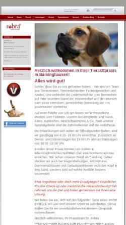 Vorschau der mobilen Webseite www.doc-robra.de, Tierärztin Dr. Marion Robra