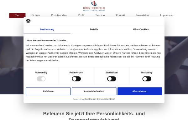 Vorschau von www.joerg-hohlfeld.de, Jörg Hohlfeld - Beratung - Coaching - Seminare
