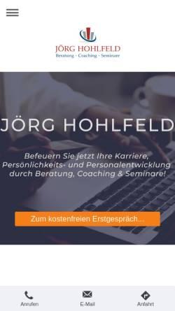 Vorschau der mobilen Webseite www.joerg-hohlfeld.de, Jörg Hohlfeld - Beratung - Coaching - Seminare