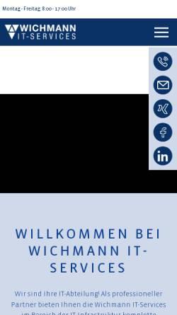 Vorschau der mobilen Webseite www.wichmann.net, Wichmann Internet Services