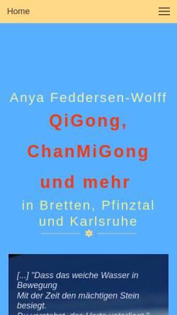 Vorschau der mobilen Webseite www.qigongwelt.de, Anya Feddersen-Wolff