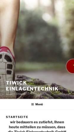 Vorschau der mobilen Webseite www.tiwick.de, Tiwick Ltd.