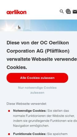 Vorschau der mobilen Webseite www.oerlikon.com, OC Oerlikon Management AG