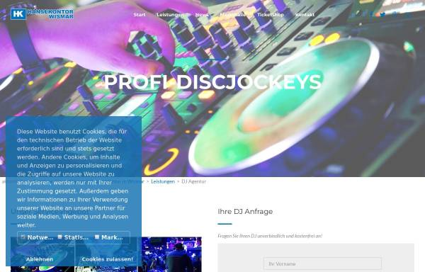Vorschau von www.hochzeitsdiscjockey.com, Hochzeits-DJ