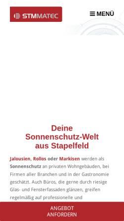Vorschau der mobilen Webseite www.stm-matec.de, STM MATEC GmbH & Co.KG