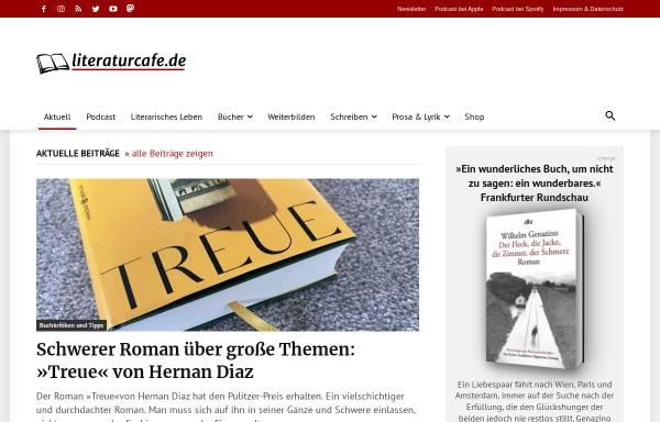 Vorschau von www.literaturcafe.de, Das Literatur-Café