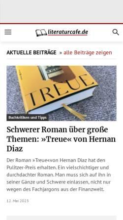 Vorschau der mobilen Webseite www.literaturcafe.de, Das Literatur-Café