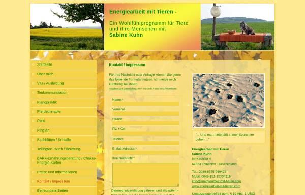 Vorschau von www.energiearbeit-mit-tieren.com, Energiearbeit mit Tieren