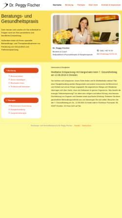 Vorschau der mobilen Webseite www.peggy-fischer.de, Beratungs- und Gesundheitspraxis Dr. Peggy Fischer