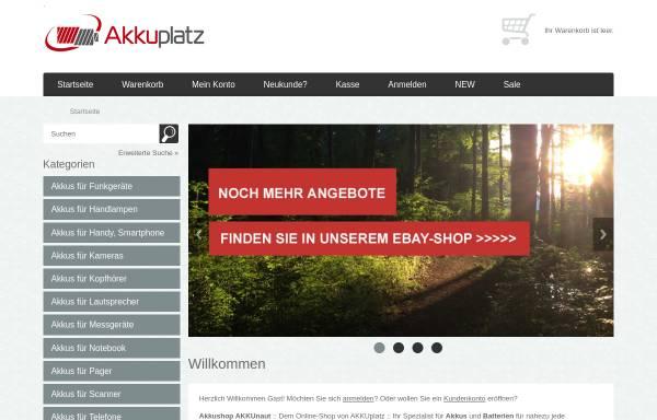 Vorschau von www.akkunaut.de, Pesch Media Consulting