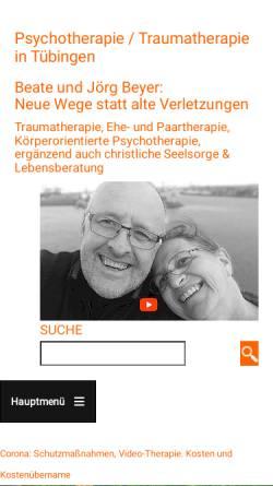Vorschau der mobilen Webseite neue-wege-entstehen.de, Jörg und Beate Beyer