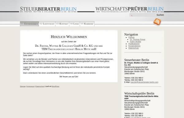 Vorschau von www.steuerberater-berlin.com, Dr. Freyer, Wuttke und Collegen GmbH & Co. KG