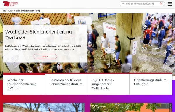 Vorschau von www.studienberatung.tu-berlin.de, Bachelor für berufliche Schulen in der Fachrichtung Ernährung / Lebensmittelwissenschaft an der TU Berlin