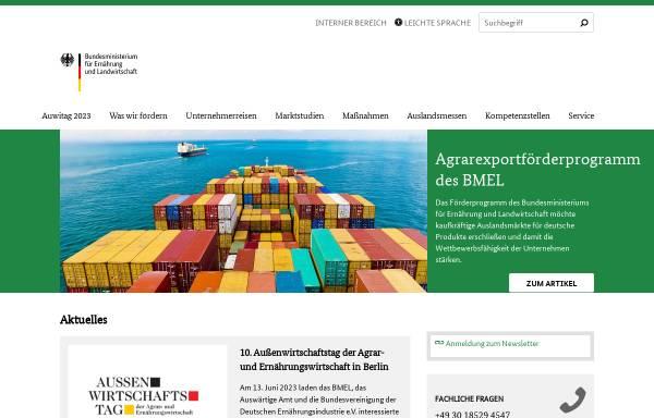 Vorschau von www.agrarexportfoerderung.de, Exportförderung des BMEL