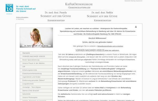 Vorschau von kfo-hamburg.de, Gemeinschaftspraxis Dres. Schmedt auf der Günne, Fachzahnärzte für Kieferorthopädie