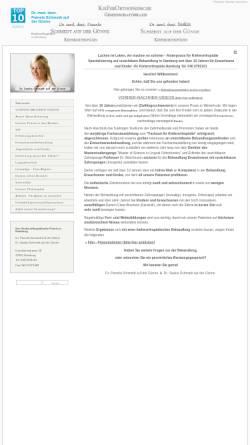 Vorschau der mobilen Webseite kfo-hamburg.de, Gemeinschaftspraxis Dres. Schmedt auf der Günne, Fachzahnärzte für Kieferorthopädie
