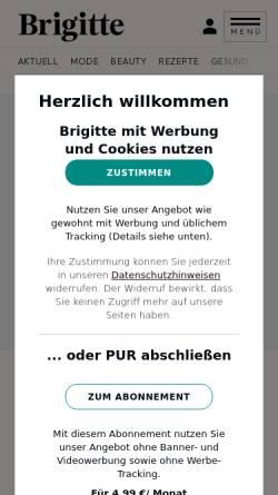 Vorschau der mobilen Webseite www.brigitte.de, Brigitte: Mode