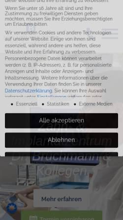 Vorschau der mobilen Webseite www.dr-bruechmann.de, Gemeinschaftspraxis Dres. Brüchmann