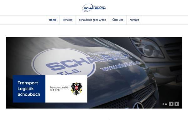 Vorschau von www.schaubach.at, T.L.S. Transport & Logistik Schaubach GmbH