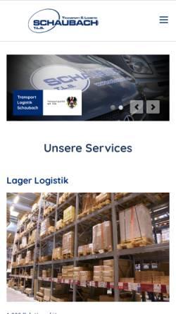 Vorschau der mobilen Webseite www.schaubach.at, T.L.S. Transport & Logistik Schaubach GmbH
