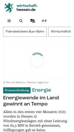 Vorschau der mobilen Webseite www.verkehr.hessen.de, Verkehrsinformationen aus Hessen