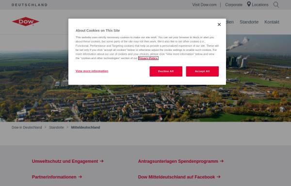 Vorschau von www.dowmitteldeutschland.de, ValuePark - Dow Olefinverbund GmbH