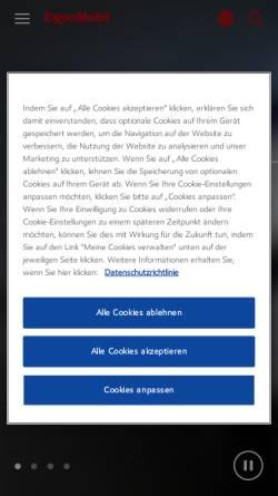 Vorschau der mobilen Webseite www.exxonmobil.de, Erdgassuche in Deutschland - ExxonMobil Central Europe Holding GmbH