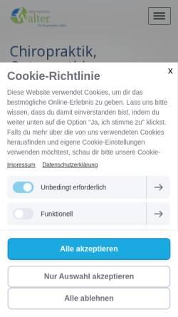 Vorschau der mobilen Webseite www.naturheilpraxis-walter.de, Enrico Walter