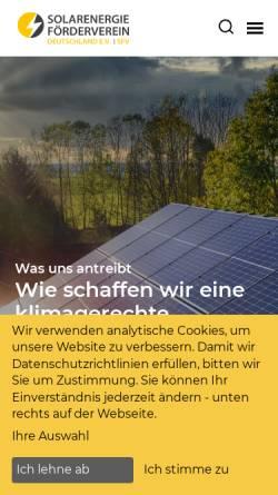 Vorschau der mobilen Webseite www.sfv.de, Solarenergie - Förderverein e.V.