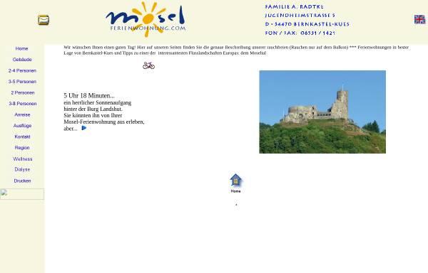Vorschau von www.mosel-ferien.de, 8 Mosel-Ferienwohnungen in bester Lage von Bernkastel-Kues