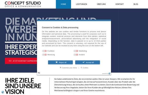 Vorschau von concept-studio.de, CONCEPT STUDIO Marketing & Kommunikation