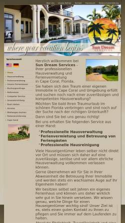 Vorschau der mobilen Webseite www.sundreamservices.com, Sun Dream Services Inc.