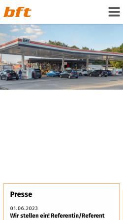 Vorschau der mobilen Webseite www.bft.de, Bundesverband Freier Tankstellen e.V.