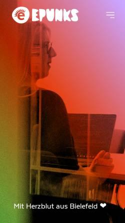 Vorschau der mobilen Webseite epunks.de, epunks GmbH