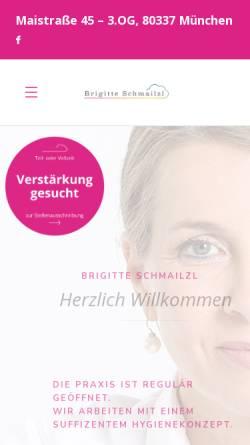 Vorschau der mobilen Webseite www.brigitte-schmailzl.de, Brigitte Schmailzl