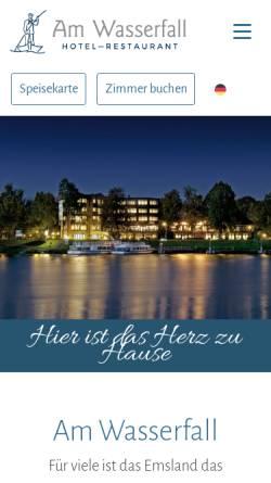 Vorschau der mobilen Webseite www.hotel-am-wasserfall.de, Hotel am Wasserfall
